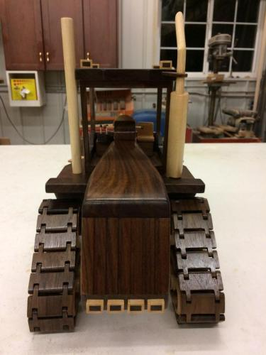 Steiger view from behind - wooden toy replica