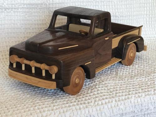 wooden truck replica - hand crafted